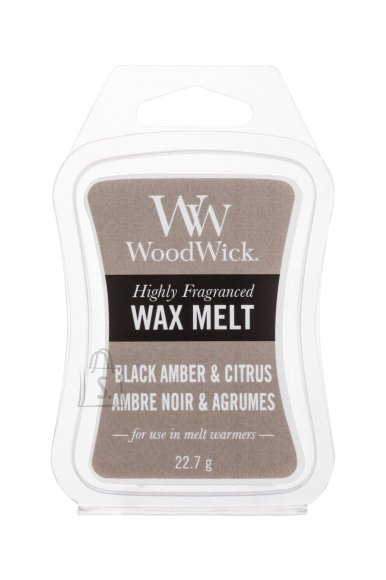 WoodWick Black Amber & Citrus Scented Wax (22,7 g)