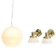Lundby nukumaja Småland riisilamp + seinalambid