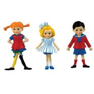 Pippi nukumaja nukud Pipi, Tommy ja Annika