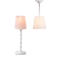 Lundby nukumaja Småland roosa põrandalamp + laelamp