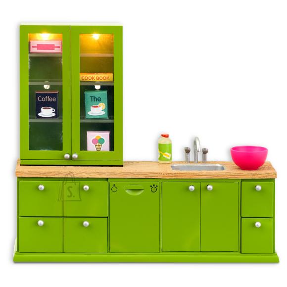 Lundby nukumaja Småland köök roheline + nõudepseumasin