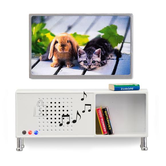 Lundby nukumaja Småland TV komplekt + Bluetooth