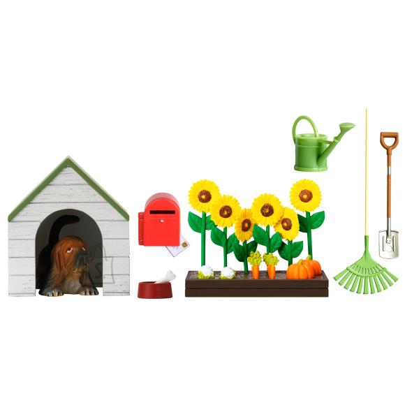 Lundby nukumaja Småland sisustus koerakuut,lilled ja postkast