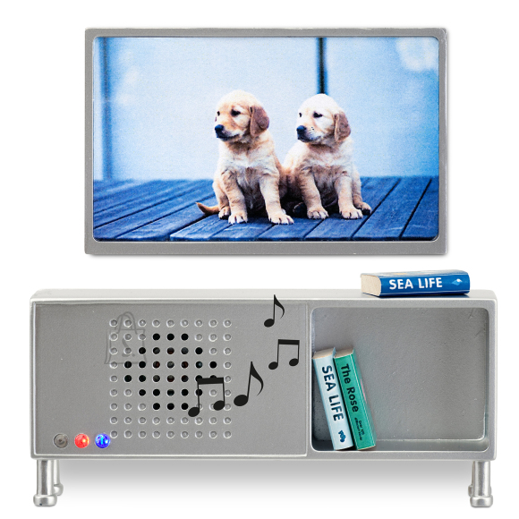 Lundby nukumaja Stockholm TV komplekt + Bluetooth