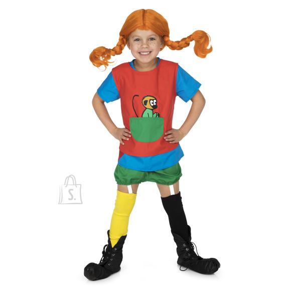 Pippi kostüüm 98-110 cm.