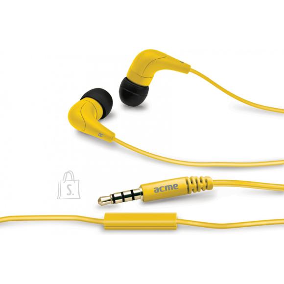 ACME ACME HE15 nööpkõrvaklapid mikrofoniga, kollased