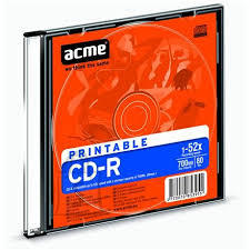 ACME ACME CD-R 700MB 52x print Slim 1tk. EOL