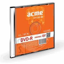 ACME ACME DVD-R 4,7GB/16x slim, prinditav 1tk. EOL