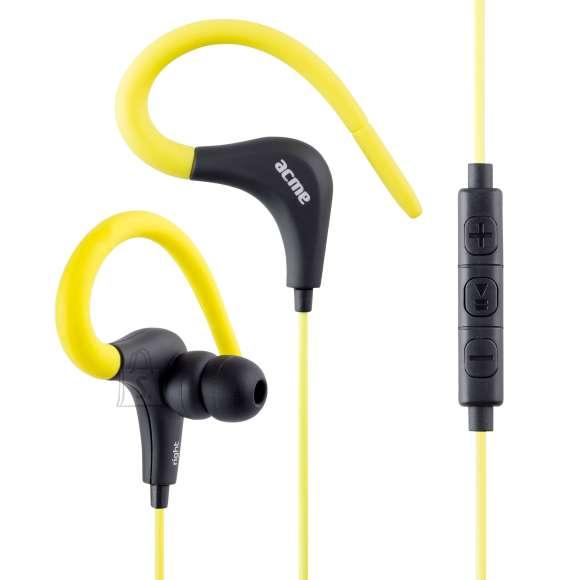 ACME Kõrvasisesed sport klapid, mikrofoniga, kollased