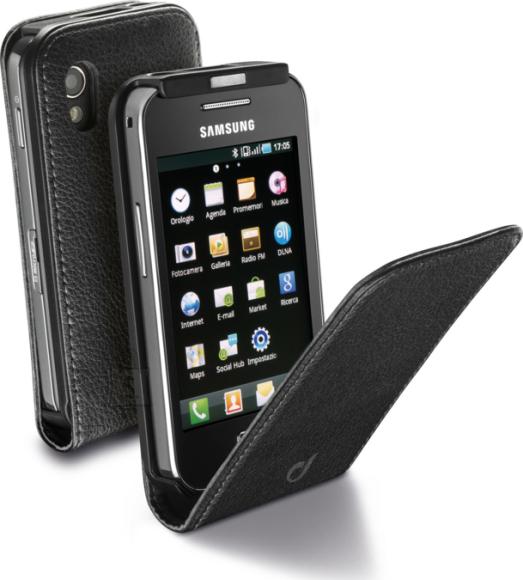 Cellularline Cellular Samsung Ace S5830 ümbris, Flap (magnetiga), must EOL