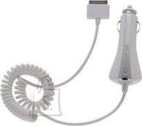 Cellularline Cellular iPad spiraaljuhtmega autolaadija 12/24V valge EOL