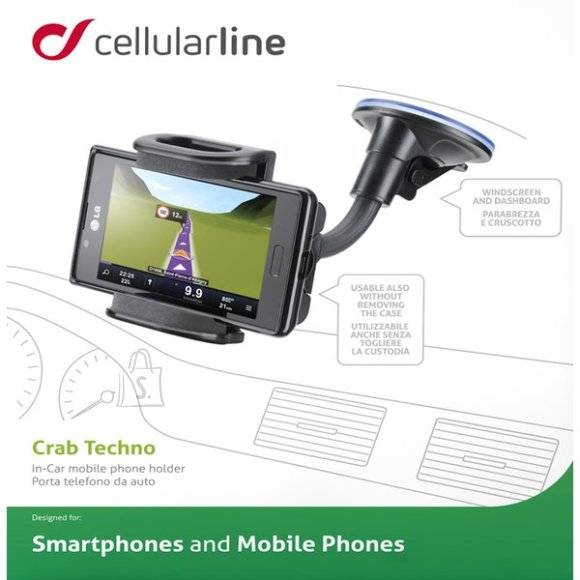 Cellularline Cellular Line mob./smartphone hoidja autosse klaasile/plastikule