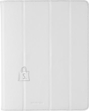 Cellularline Cellular iPad 2/3 ümbris, kunstnahk, magnetiga, valge EOL