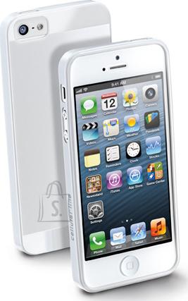 Cellularline Cellular iPhone 5 ümbris, kummist, slim, valge EOL