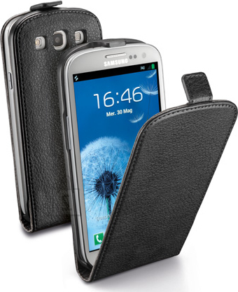 Cellularline Cellular Samsung Galaxy S3 ümbris, Flap (magnetiga), must EOL
