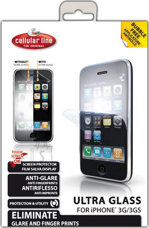Cellularline Cellular iPhone 3G ekraanikaitse, ultra klaas EOL