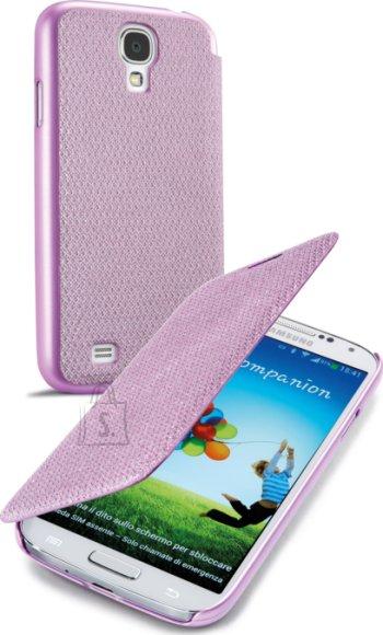 Cellularline Cellular Samsung Galaxy S4 ümbris, Book Glitter, roosa EOL