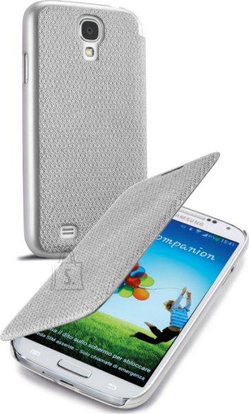 Cellularline Cellular Samsung Galaxy S4 ümbris, Book Glitter, hõbedane EOL