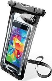 "Cellularline Cellularline vee- ja tolmukindel kott mobiiltelefonidele kuni 5,8"", 3,5mm pesa, must"