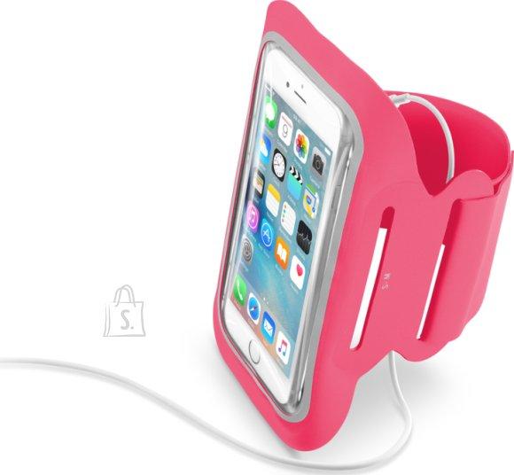 """Cellularline Mobiilihoidja käsivarrele Fitness, kuni 5,2"""", roosa"""