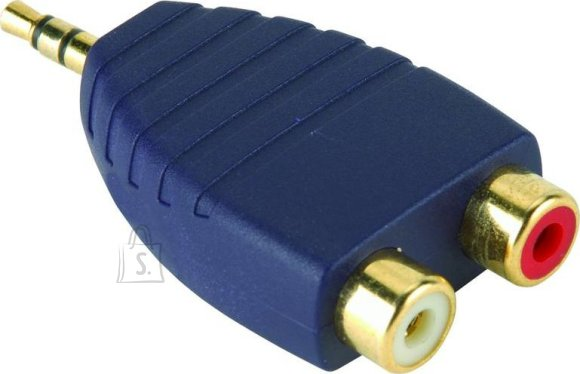 Bandridge Premium SAP342 3,5mm otsik-2RCA otsik adapter