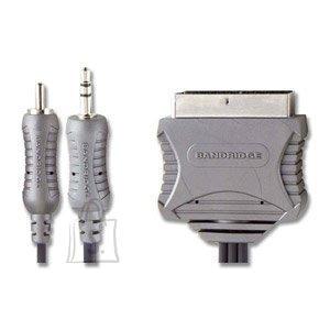 Bandridge VL5705 3,5mm otsik + RCA otsik - SCART 5m (arvuti-telekas) EOL