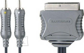 Bandridge VL7554 SCART otsik - 2RCA otsik lülitiga 1,5m EOL