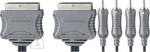 Bandridge VL7692 SCART otsik - SCART otsik/4RCA otsik (topelt var) 1,5m EOL