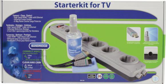 Bandridge TV-komplekt: HDMI kaabel + pikendusjuhe + puhastusvahend