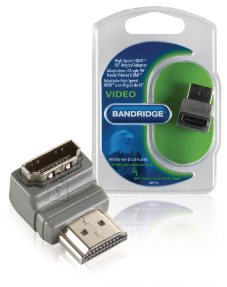 Bandridge Bandridge BVP133 HDMI otsik - HDMI pesa, 90-kraadine nurk