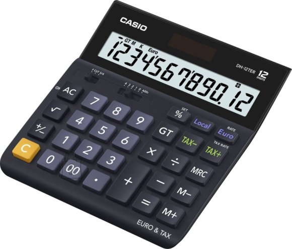 Casio D-20TER Lauakalkulaator 12 numbrit, TAX EOL