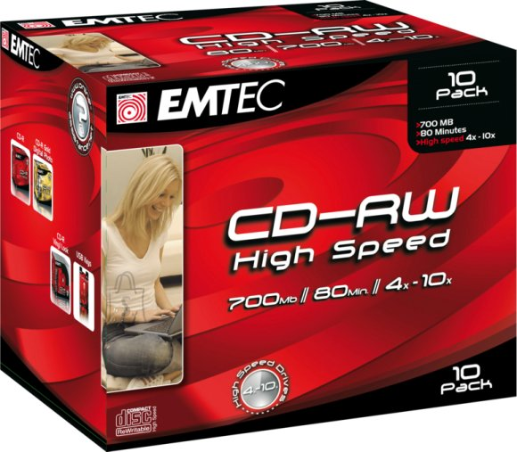 Emtec EMTEC CD-RW 700MB/10x 1tk.Jewel EOL
