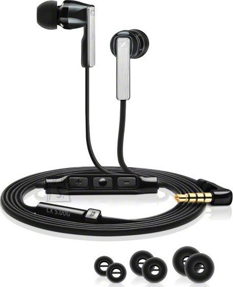 Sennheiser Sennheiser CX5.00 membraankõrvaklapid mikrofoniga Androidile mustad
