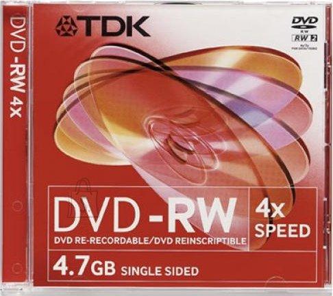 TDK TDK DVD-RW 4,7GB/4x jewel EOL