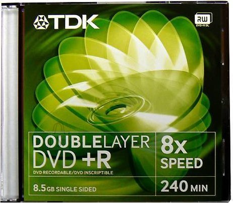 TDK TDK DVD+R 8,5GB 8x Double Layer jewel EOL