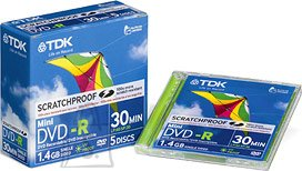 TDK TDK DVD-R 1,4GB Mini, jewel
