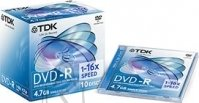 TDK TDK DVD-R 4,7Gb/16X jewel 1tk. EOL