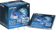 TDK TDK DVD+R 4,7Gb/16X jewel 1tk. EOL