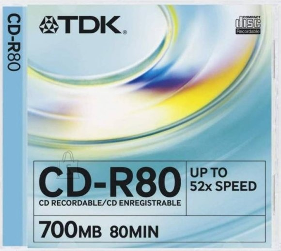 TDK TDK CD-R 52x 80min/700MB Slim
