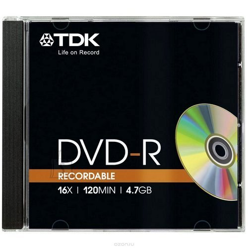 TDK TDK DVD-R 4,7GB/16x Slim