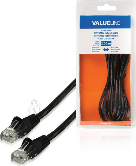 Valueline Valueline VLCB85100B20 võrgukaabel Cat.5E 2xRJ45 otsik 2m