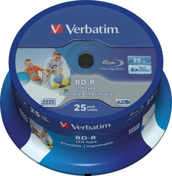Verbatim Verbatim BD-R 25GB/6X 25 torn, prinditav