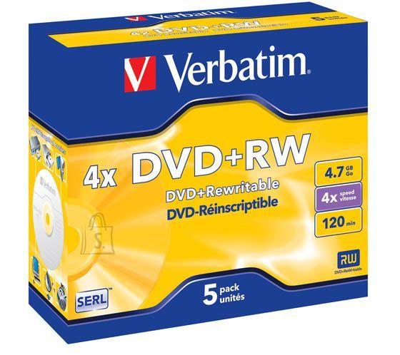Verbatim Verbatim DVD+RW 4,7GB 4x jewel EOL