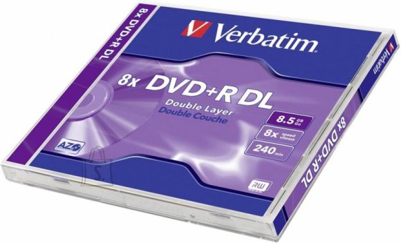 Verbatim VERBATIM DVD+R 8,5GB 8x Double Layer jewel
