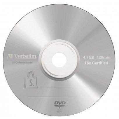 Verbatim Verbatim DVD-R 4,7GB/16x  Matte Silver Slim 43547