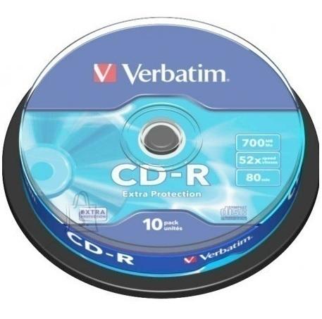 Verbatim Verbatim CD-R 52x 80min/700MB 10-ne torn Extra Protection
