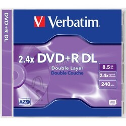 Verbatim VERBATIM DVD+R 8,5GB 2,4x Double Layer jewel