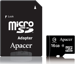 Apacer Apacer m??lukaart microSD, CL4, 16GB