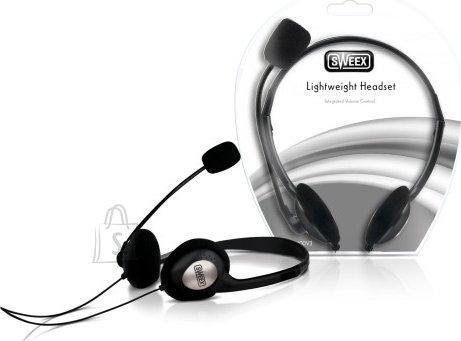 Sweex Kõrvaklapid mikrofoniga, must/hõbe EOL