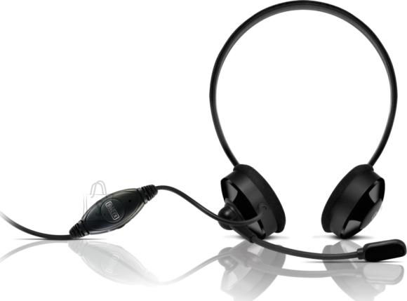 Sweex Kõrvaklapid mikrofoniga, mustad EOL